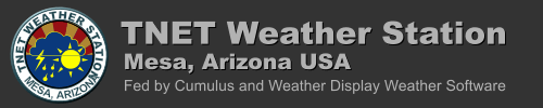 TNET Weather Station - Mesa, AZ USA